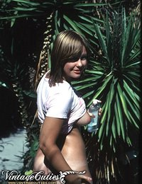 Several Sensual Vintage Photos Of Hot Tanned Hairy Chick