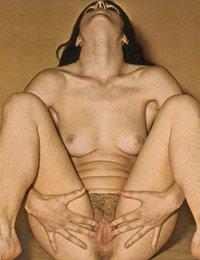 mature retro woman enjoying sex